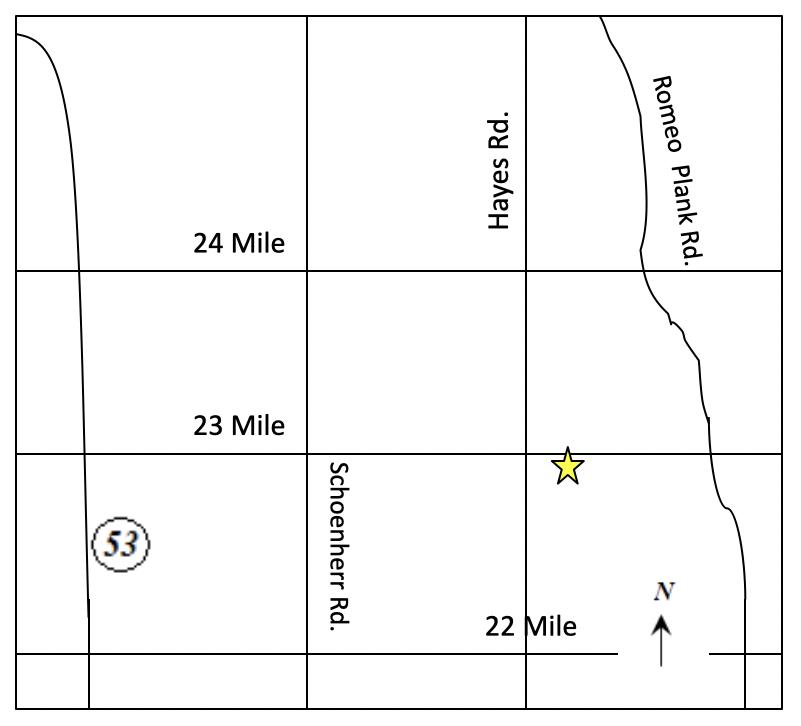 23 Mile Road, Macomb Township, Michigan Map